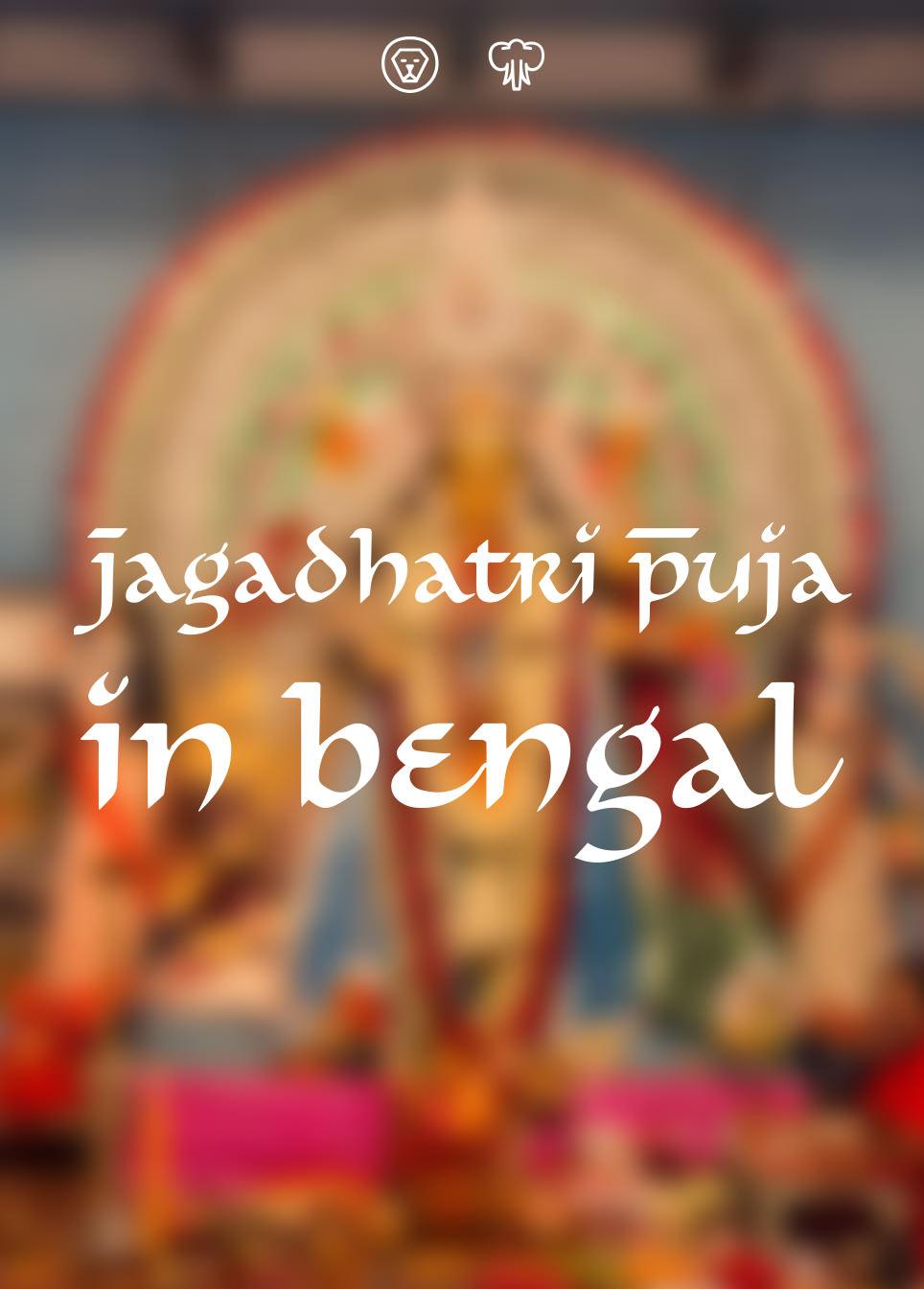 Jagadhatri Puja in Bengal